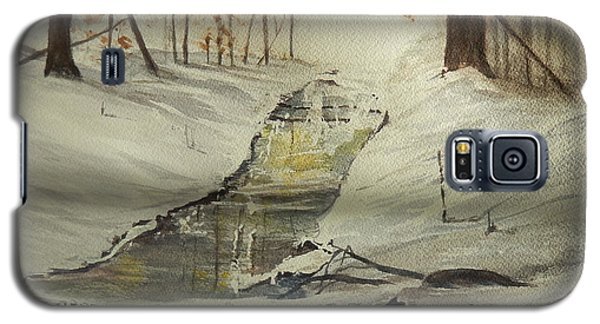 The Creek In Winter Galaxy S5 Case by Betty-Anne McDonald