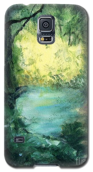 Galaxy S5 Case featuring the painting The Creek by Mary Lynne Powers