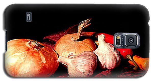 New Orleans Onions, Garlic, Red Chili Pepper Used In Creole Cooking A Still Life Galaxy S5 Case
