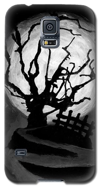 Galaxy S5 Case featuring the painting The Crooked Tree by Salman Ravish