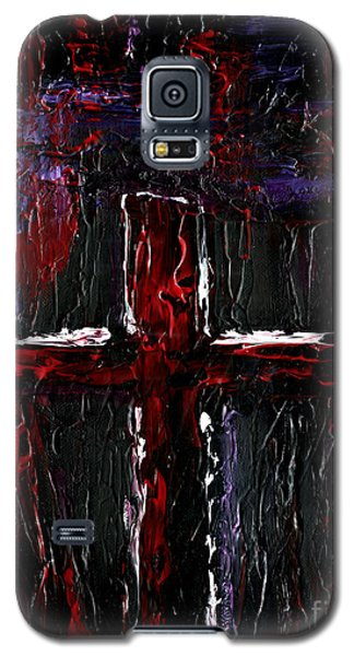 Galaxy S5 Case featuring the painting The Crossroads #1 by Roz Abellera Art