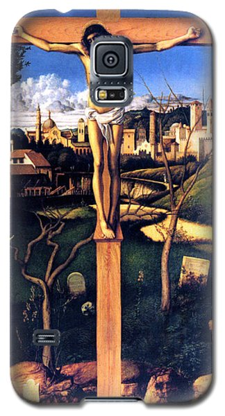Galaxy S5 Case featuring the painting The Crucifixion 1503 Giovanni Bellini by Karon Melillo DeVega