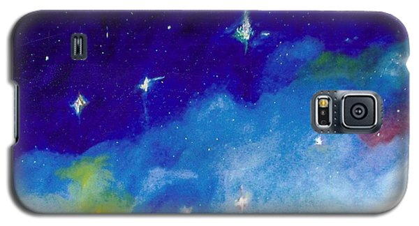 Galaxy S5 Case featuring the painting The Crux -cross by Carrie Maurer