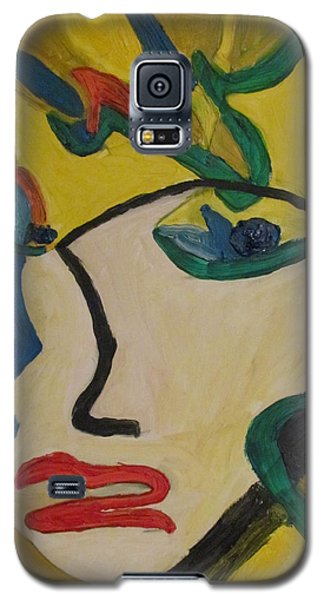 Galaxy S5 Case featuring the painting The Crying Girl by Shea Holliman