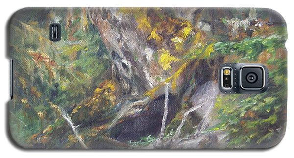 Galaxy S5 Case featuring the painting The Crying Log by Lori Brackett