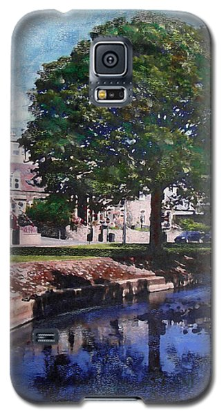 Galaxy S5 Case featuring the painting The Cuddy In Beltane Week Peebles by Richard James Digance