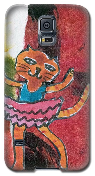 Galaxy S5 Case featuring the mixed media The Curtain Call by Catherine Redmayne