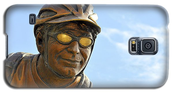 Galaxy S5 Case featuring the photograph The Cyclist by AJ  Schibig