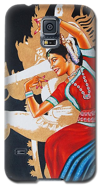 Galaxy S5 Case featuring the painting The Dance Divine Of Odissi by Ragunath Venkatraman