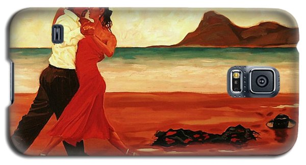 Galaxy S5 Case featuring the painting The Dance Of Passion by Janet McDonald