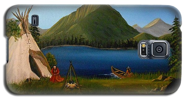 Galaxy S5 Case featuring the painting Dawn Of Tohidu by Sheri Keith