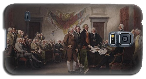 The Declaration Of Independence, July 4, 1776 Galaxy S5 Case by John Trumbull