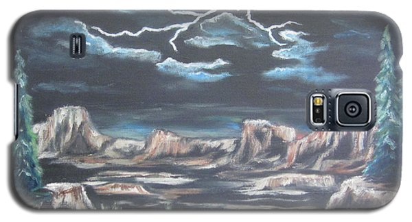 Galaxy S5 Case featuring the painting The Desert Long Forgotten by Cheryl Pettigrew
