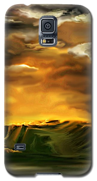 Galaxy S5 Case featuring the painting The Desertland by Persephone Artworks