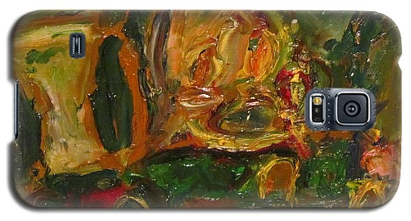 Galaxy S5 Case featuring the painting The Dining Room by Shea Holliman