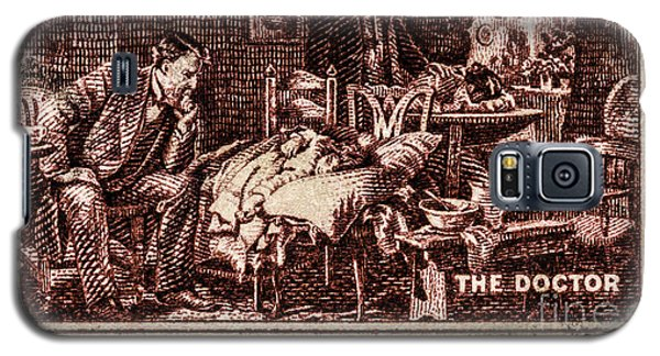 The Doctor - Concerned Physician Postage Stamp Galaxy S5 Case by Phil Cardamone
