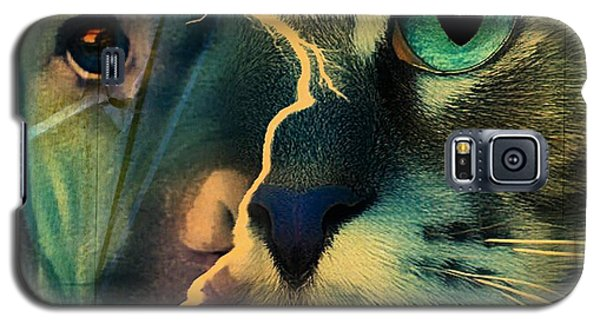 The Dog Connection -green Galaxy S5 Case by Kathy Tarochione