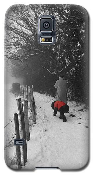 The Dog In The Red Coat Galaxy S5 Case by Vicki Spindler