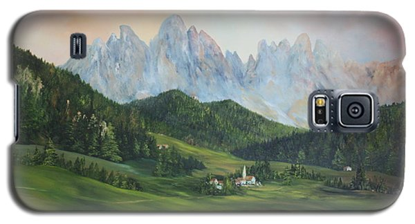 Galaxy S5 Case featuring the painting The Dolomites Italy by Jean Walker
