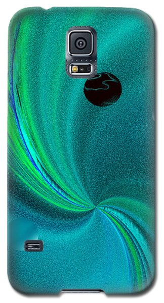 Galaxy S5 Case featuring the painting  Dolphin Kiss by Yul Olaivar