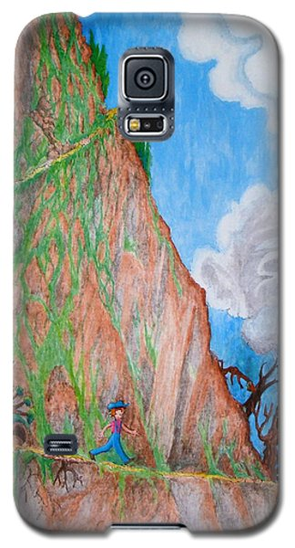 Galaxy S5 Case featuring the painting The Downward Path by Matt Konar