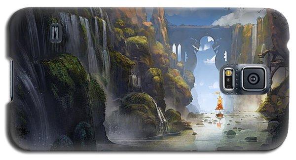 Dragon Galaxy S5 Case - The Dragon Land by Kristina Vardazaryan