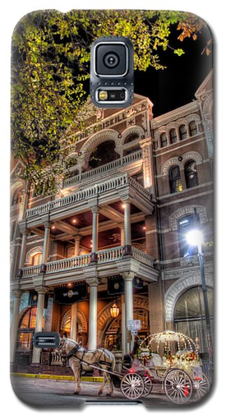 Galaxy S5 Case featuring the photograph The Driskill Hotel by Tim Stanley