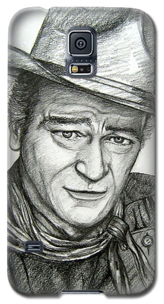 Galaxy S5 Case featuring the drawing The Duke John Wayne by Patrice Torrillo