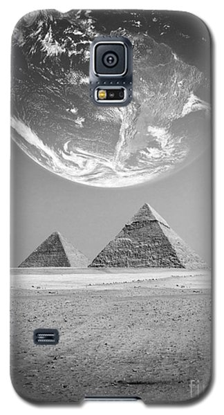Galaxy S5 Case featuring the photograph The Earth With Egyptian Pyramids  by Mohamed Elkhamisy