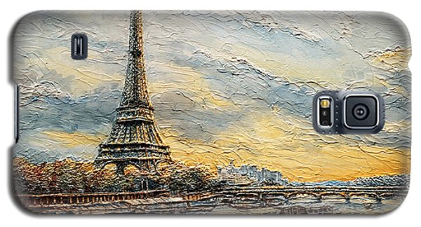 The Eiffel Tower- From The River Seine Galaxy S5 Case by Joey Agbayani