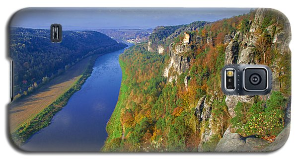 The Elbe Sandstone Mountains Along The Elbe River Galaxy S5 Case