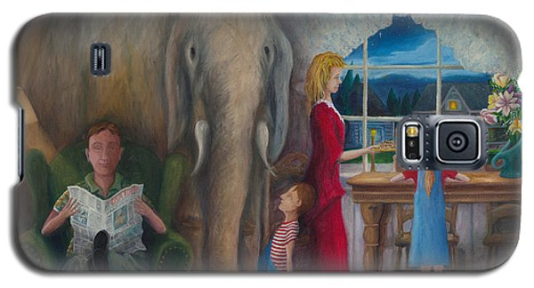 Galaxy S5 Case featuring the painting The Elephant Ambulance And Cookies by Matt Konar