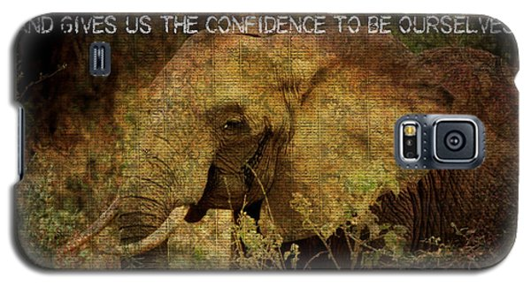 The Elephant - Inner Strength Galaxy S5 Case by Absinthe Art By Michelle LeAnn Scott