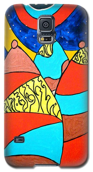 Galaxy S5 Case featuring the painting The Emissaries by Clarity Artists