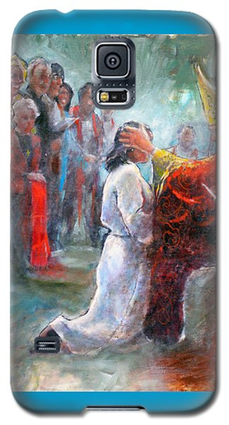 Galaxy S5 Case featuring the painting The Episcopal Ordination Of Sierra Wilkinson by Gertrude Palmer
