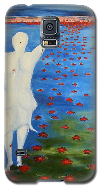 Galaxy S5 Case featuring the painting The Eternal Quest For Happiness  by Geeta Biswas
