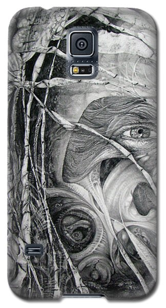 Galaxy S5 Case featuring the drawing The Eye Of The Fomorii - Regrouping For The Battle by Otto Rapp