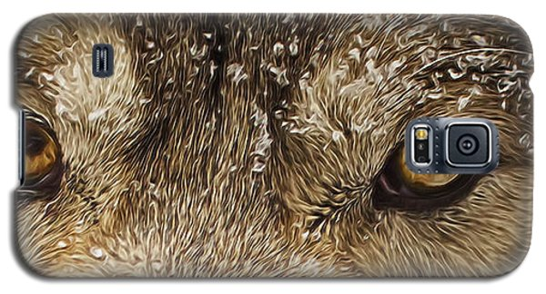 Galaxy S5 Case featuring the photograph The Eyes Of The Wolf  by Brian Cross