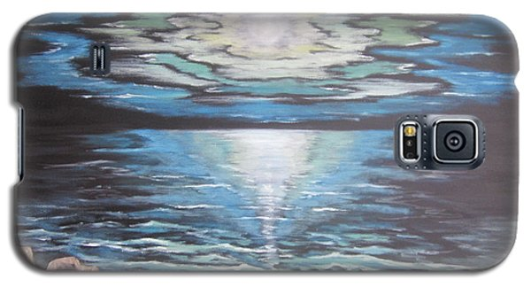 Galaxy S5 Case featuring the painting The Fading Sun by Cheryl Pettigrew