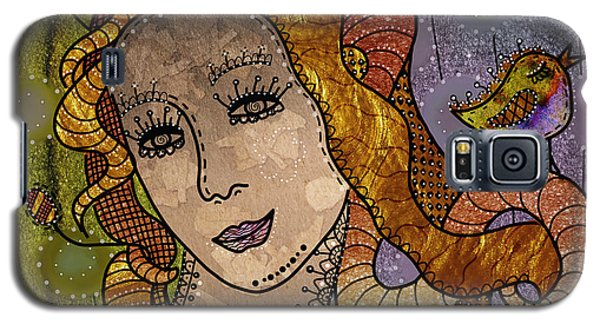 Galaxy S5 Case featuring the digital art The Fairy Godmother by Barbara Orenya