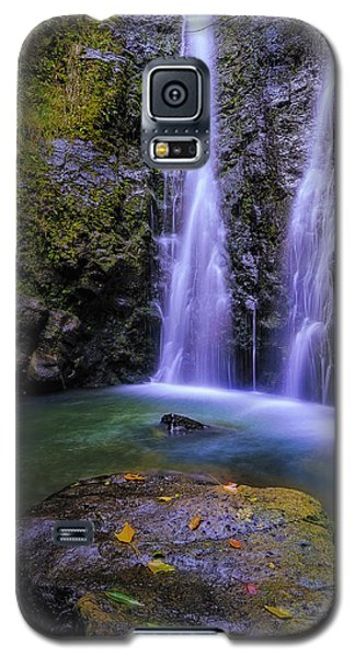 The Falls At Makamakaole Galaxy S5 Case by Hawaii  Fine Art Photography