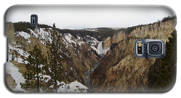 The Falls At Yellowstone Park Galaxy S5 Case