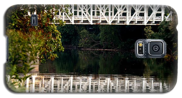 Galaxy S5 Case featuring the photograph The Falls Bridge by Christopher Woods