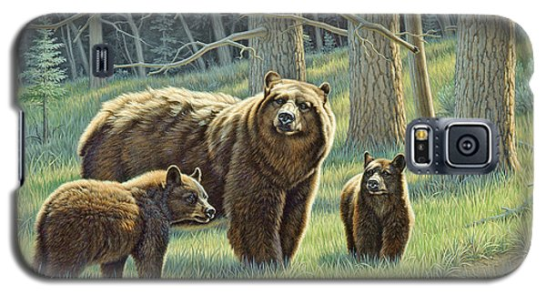 Bear Galaxy S5 Case - The Family - Black Bears by Paul Krapf