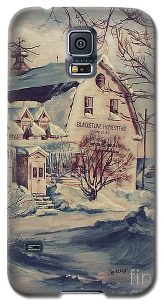Galaxy S5 Case featuring the painting The Farm by Joy Nichols