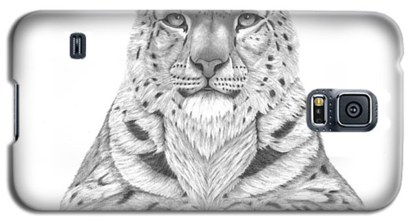Galaxy S5 Case featuring the drawing The Fearless Tiger by Patricia Hiltz