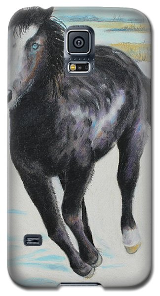 Galaxy S5 Case featuring the painting The Feel Of The Cool Air by Jeanne Fischer