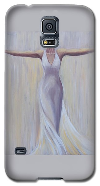 Galaxy S5 Case featuring the painting The Fight Is Won by Sheri  Chakamian