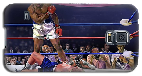 Boxing Muhammad Ali Galaxy S5 Case - The Fight Of The Century - June 28 1971 C-vs-us by Reggie Duffie