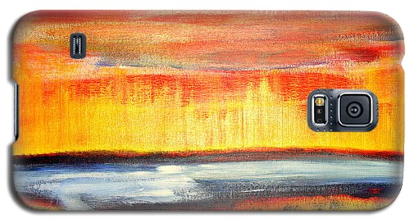 Galaxy S5 Case featuring the painting The First Handcart Is Faith by Richard W Linford